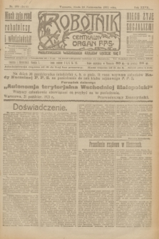 Robotnik : centralny organ P.P.S. R.27, nr 289 (26 października 1921) = nr 1411
