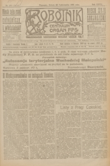 Robotnik : centralny organ P.P.S. R.27, nr 292 (29 października 1921) = nr 1414