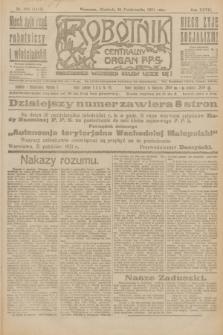 Robotnik : centralny organ P.P.S. R.27, nr 293 (30 października 1921) = nr 1415