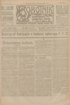 Robotnik : centralny organ P.P.S. R.27, nr 296 (2 listopada 1921) = nr 1418