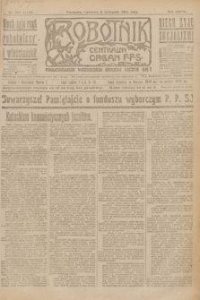 Robotnik : centralny organ P.P.S. R.27, nr 297 (3 listopada 1921) = nr 1419