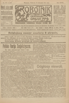 Robotnik : centralny organ P.P.S. R.27, nr 307 (13 listopada 1921) = nr 1429