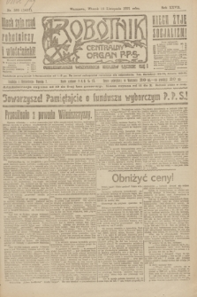 Robotnik : centralny organ P.P.S. R.27, nr 309 (15 listopada 1921) = nr 1431