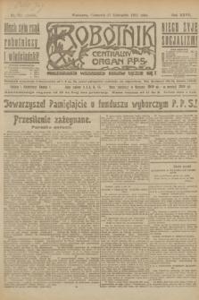 Robotnik : centralny organ P.P.S. R.27, nr 311 (17 listopada 1921) = nr 1433