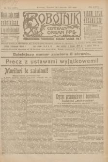 Robotnik : centralny organ P.P.S. R.27, nr 314 (20 listopada 1921) = nr 1436