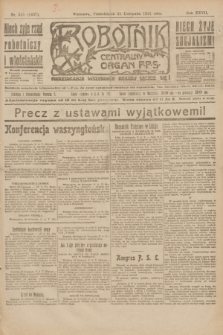 Robotnik : centralny organ P.P.S. R.27, nr 315 (21 listopada 1921) = nr 1437