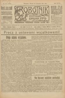Robotnik : centralny organ P.P.S. R.27, nr 316 (22 listopada 1921) = nr 1438