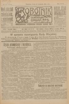 Robotnik : centralny organ P.P.S. R.27, nr 317 (23 listopada 1921) = nr 1439