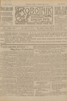 Robotnik : centralny organ P.P.S. R.27, nr 331 (7 grudnia 1921) = nr 1453