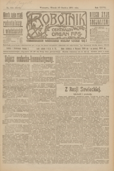 Robotnik : centralny organ P.P.S. R.27, nr 344 (20 grudnia 1921) = nr 1466