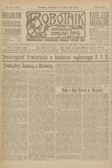 Robotnik : centralny organ P.P.S. R.27, nr 351 (29 grudnia 1921) = nr 1473