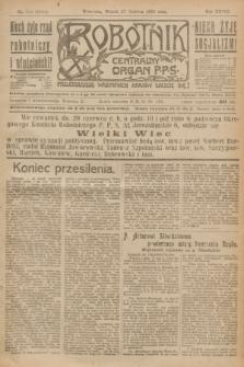 Robotnik : centralny organ P.P.S. R.28, nr 172 (27 czerwca 1922) = nr 1644