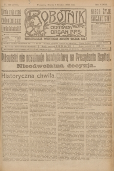 Robotnik : centralny organ P.P.S. R.28, nr 333 (5 grudnia 1922) = nr 1805