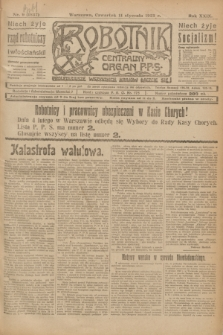 Robotnik : centralny organ P.P.S. R.29, nr 9 (11 stycznia 1923) = nr 1837