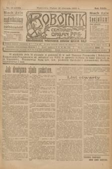 Robotnik : centralny organ P.P.S. R.29, nr 10 (12 stycznia 1923) = nr 1838