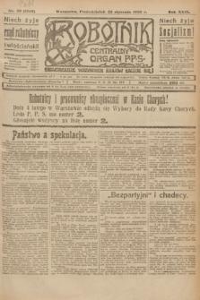 Robotnik : centralny organ P.P.S. R.29, nr 20 (22 stycznia 1923) = nr 1848