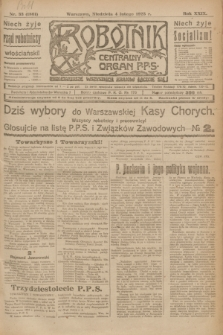 Robotnik : centralny organ P.P.S. R.29, nr 33 (4 lutego 1923) = nr 1861