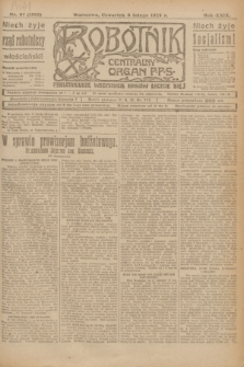 Robotnik : centralny organ P.P.S. R.29, nr 37 (8 lutego 1923) = nr 1865
