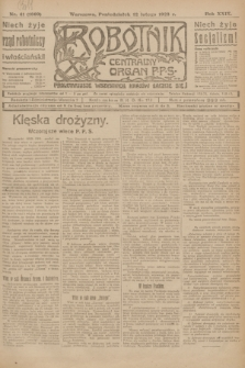 Robotnik : centralny organ P.P.S. R.29, nr 41 (12 lutego 1923) = nr 1869