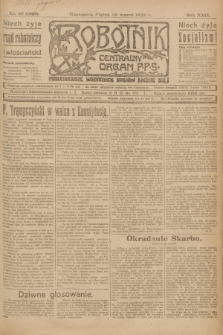 Robotnik : centralny organ P.P.S. R.29, nr 80 (23 marca 1923) = nr 1908