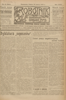 Robotnik : centralny organ P.P.S. R.29, nr 87 (30 marca 1923) = nr 1915
