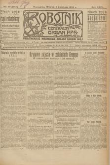 Robotnik : centralny organ P.P.S. R.29, nr 89 (3 kwietnia 1923) = nr 1917