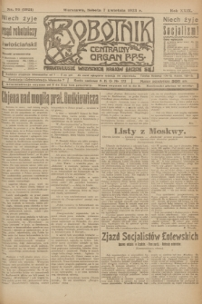 Robotnik : centralny organ P.P.S. R.29, nr 93 (7 kwietnia 1923) = nr 1921