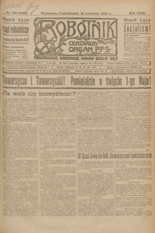 Robotnik : centralny organ P.P.S. R.29, nr 101 (16 kwietnia 1923) = nr 1929