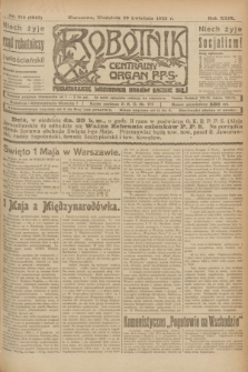 Robotnik : centralny organ P.P.S. R.29, nr 114 (29 kwietnia 1923) = nr 1942