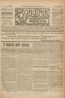 Robotnik : centralny organ P.P.S. R.29, nr 183 (8 lipca 1923) = nr 2011