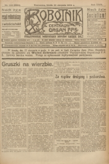 Robotnik : centralny organ P.P.S. R.29, nr 228 (22 sierpnia 1923) = nr 2056