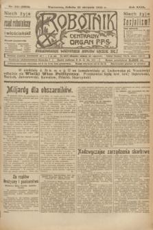 Robotnik : centralny organ P.P.S. R.29, nr 231 (25 sierpnia 1923) = nr 2059