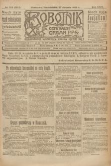 Robotnik : centralny organ P.P.S. R.29, nr 233 (27 sierpnia 1923) = nr 2061