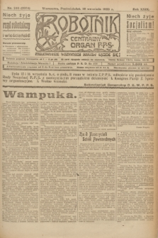 Robotnik : centralny organ P.P.S. R.29, nr 246 (10 września 1923) = nr 2074
