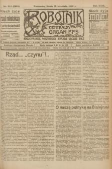 Robotnik : centralny organ P.P.S. R.29, nr 255 (19 września 1923) = nr 2083