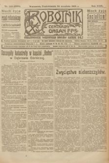 Robotnik : centralny organ P.P.S. R.29, nr 260 (24 września 1923) = nr 2088