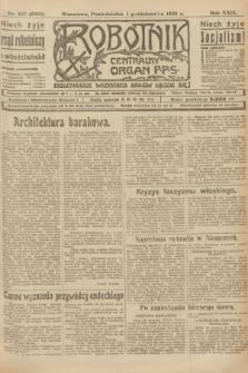 Robotnik : centralny organ P.P.S. R.29, nr 267 (1 października 1923) = nr 2095
