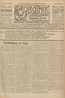 Robotnik : centralny organ P.P.S. R.29, nr 269 (3 października 1923) = nr 2097