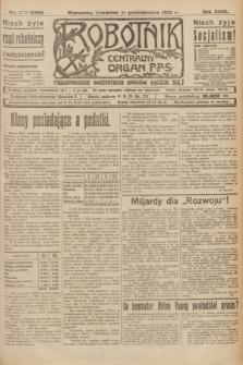 Robotnik : centralny organ P.P.S. R.29, nr 277 (11 października 1923) = nr 2108 [i.e. 2105]