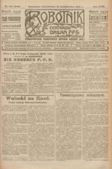 Robotnik : centralny organ P.P.S. R.29, nr 288 (22 października 1923) = nr 2116