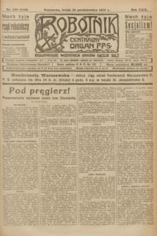 Robotnik : centralny organ P.P.S. R.29, nr 290 (24 października 1923) = nr 2118