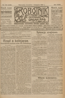 Robotnik : centralny organ P.P.S. R.29, nr 298 (1 listopada 1923) = nr 2126