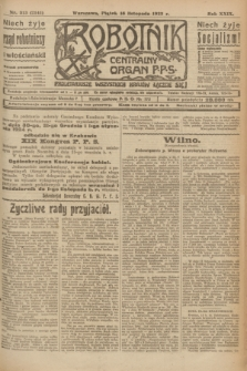 Robotnik : centralny organ P.P.S. R.29, nr 313 (16 listopada 1923) = nr 2141