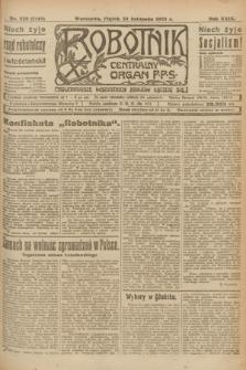 Robotnik : centralny organ P.P.S. R.29, nr 320 (23 listopada 1923) = nr 2148