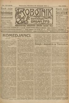 Robotnik : centralny organ P.P.S. R.29, nr 322 (25 listopada 1923) = nr 2150