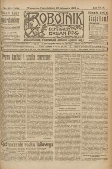 Robotnik : centralny organ P.P.S. R.29, nr 323 (26 listopada 1923) = nr 2151