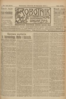 Robotnik : centralny organ P.P.S. R.29, nr 326 (29 listopada 1923) = nr 2154