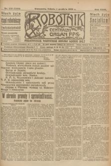 Robotnik : centralny organ P.P.S. R.29, nr 328 (1 grudnia 1923) = nr 2156
