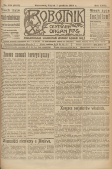 Robotnik : centralny organ P.P.S. R.29, nr 334 (7 grudnia 1923) = nr 2162
