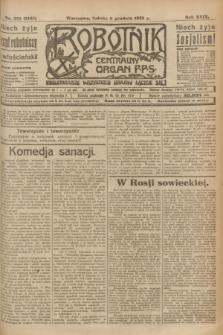 Robotnik : centralny organ P.P.S. R.29, nr 335 (8 grudnia 1923) = nr 2163